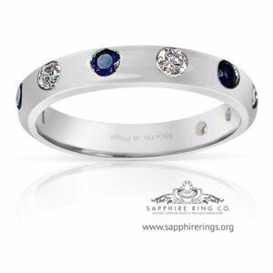 platinum-sapphire-band-bezel-set