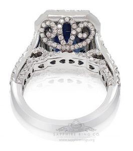 """Why is Platinum More Expensive than Gold ? """"Platinum Sapphire Engagement Rings"""""""