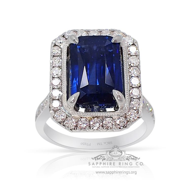 Platinum Natural Sapphire Ring