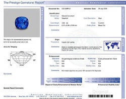 agl report of gemstone