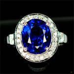 Kashmir Blue sapphire ring.