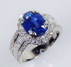 This is sapphire ring